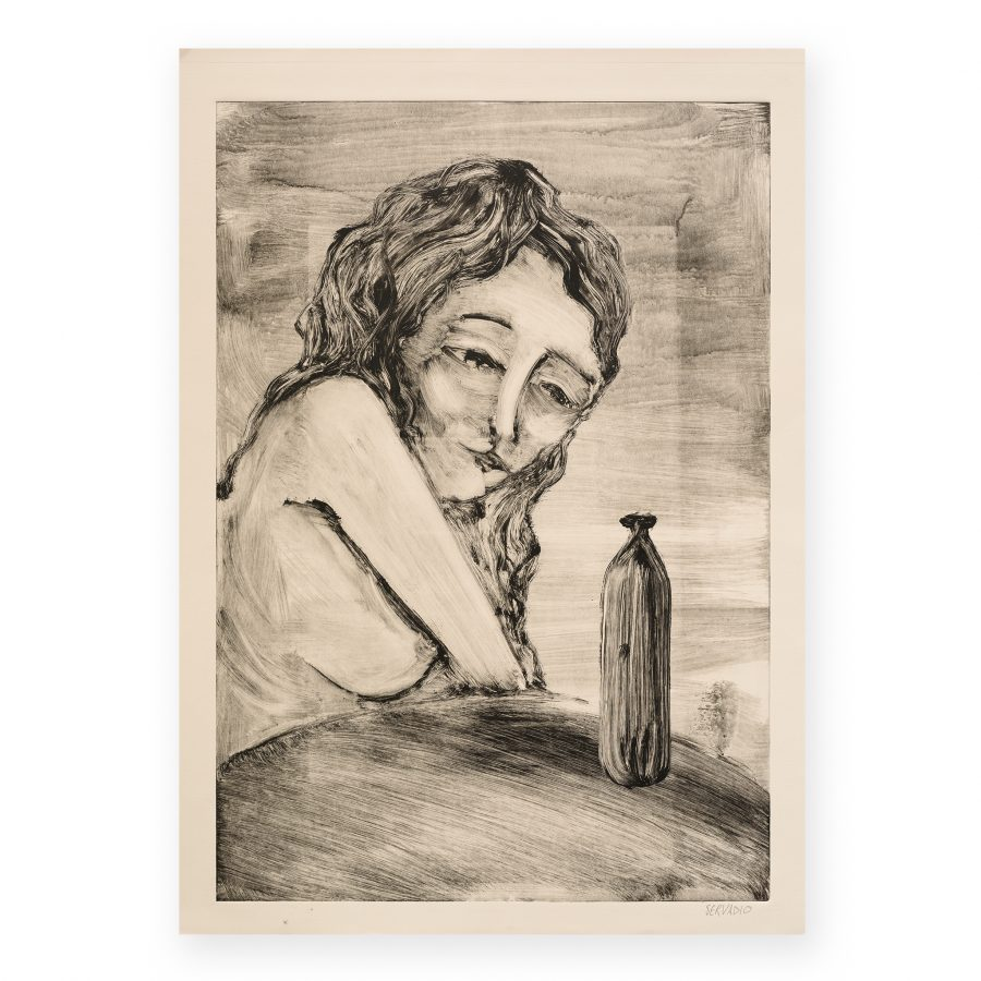 Servadio - Woman with bottle