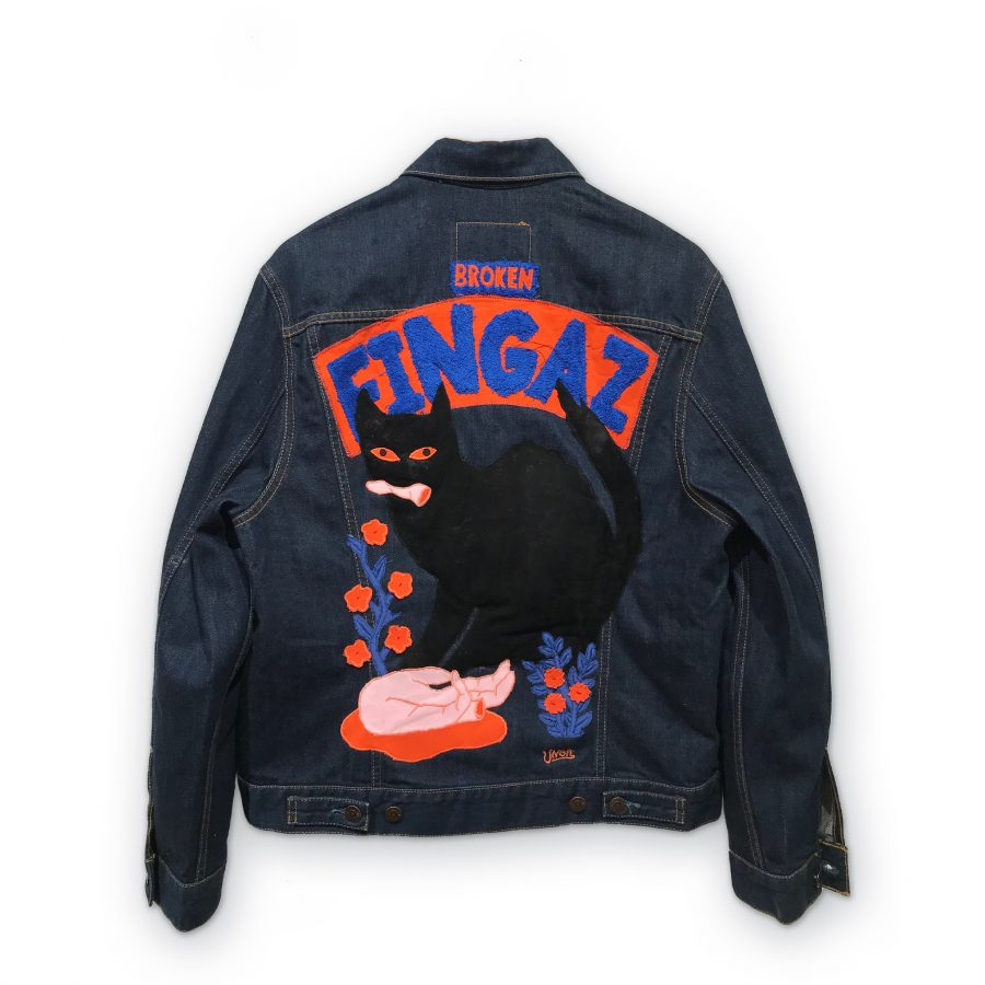 Unga Broken Fingaz_blue jacket
