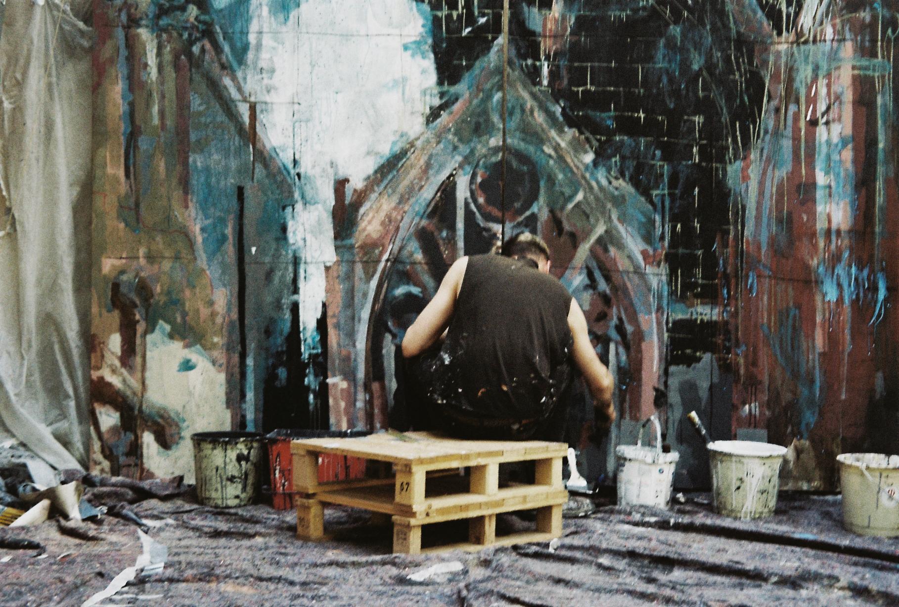 Merci exhibition by Gonzalo Borondo